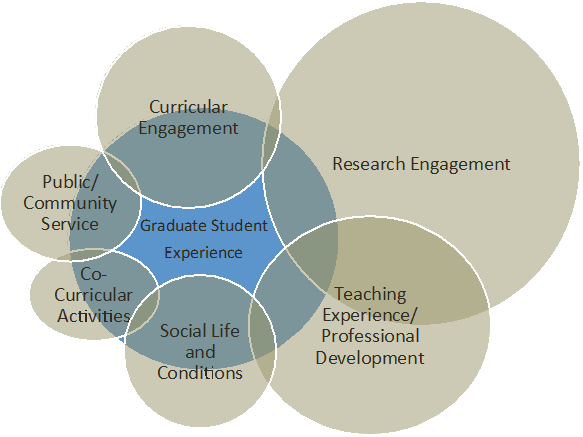 Research Engagement (1); Teaching Experience/Professional Development (2); Social Life and Conditions (3); Co-Curricular Activities (4); Public/Community Service (5); Curricular Engagement (6)