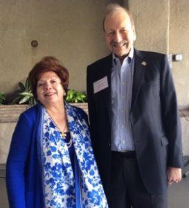 ELA Founder and Director Josie Baltodano and Chancellor George Blumenthal