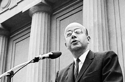 Clark Kerr speaking at the Greek Theater