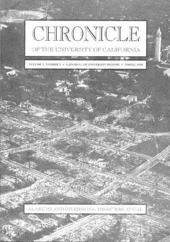 Chronicle of the University of California, Issue 1 Cover